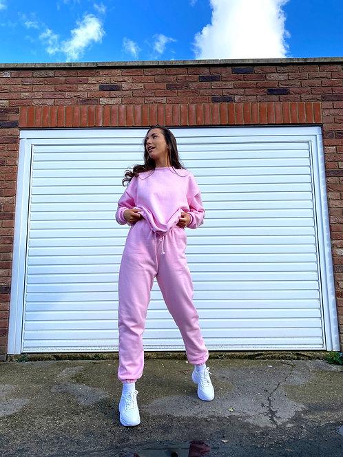 Baby Pink Joggers Loungewear