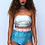 Thumbnail: Multi Colour 3 Sequin High Waisted Peakini Bottoms