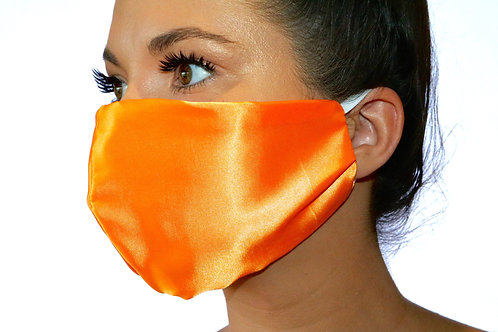 Orange Satin Face Mask