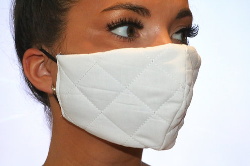 White quilted Face Mask