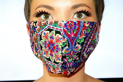 Multi colour paisley Face Mask LIMITED EDITION