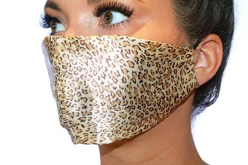 Satin Leopard print Face Mask