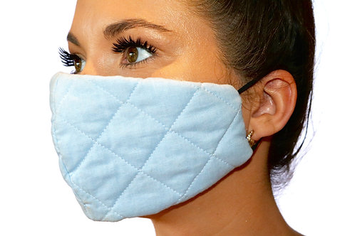 Baby Blue quilted Face Mask