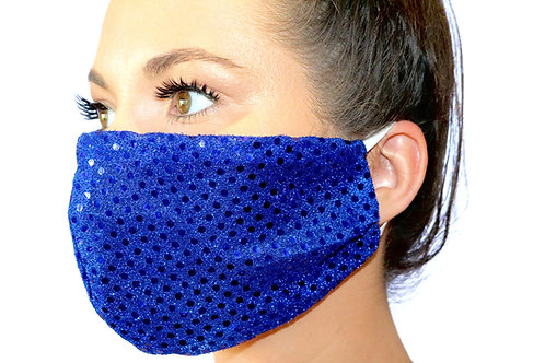Blue Sparkle dot Face Mask LIMITED EDITION