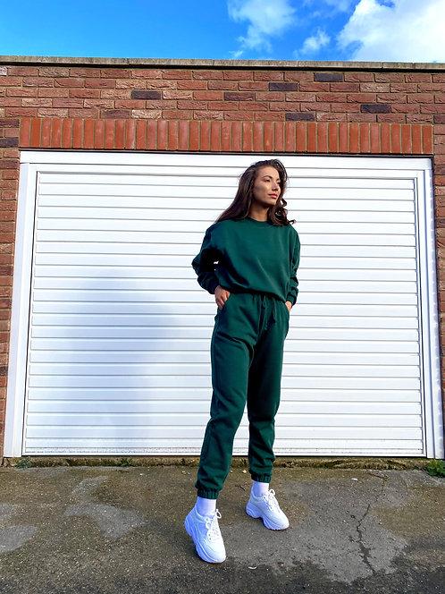 Bottle Green Sweatshirt Jumper Loungewear