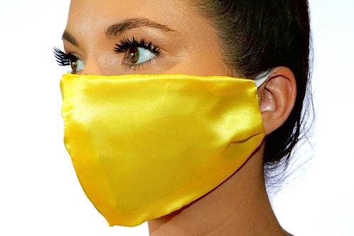 Yellow Satin Face Mask