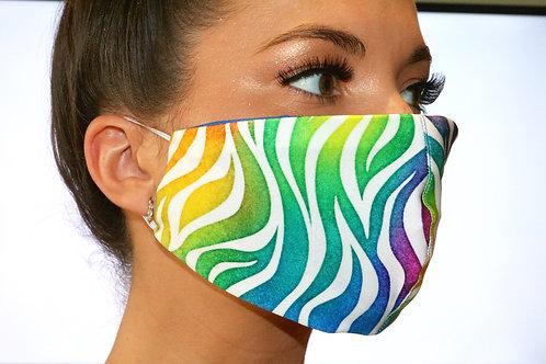 Rainbow Tiger Print Face Mask