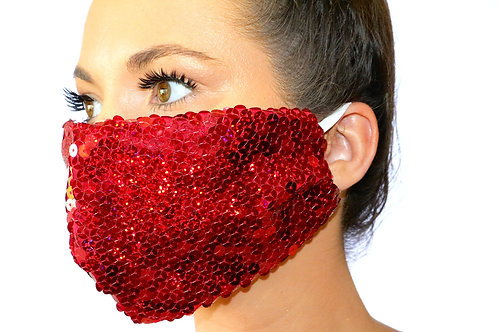 Red sequin Face Mask LIMITED EDITION