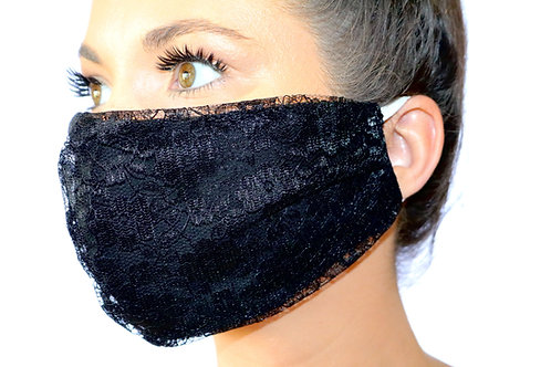 Black Lace Face Mask