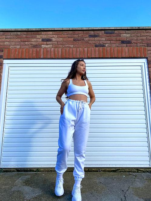 White Crop Top Loungewear