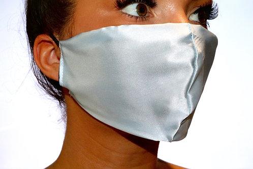 Baby Blue Satin Face Mask