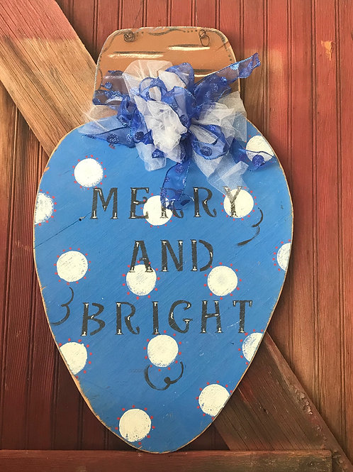 """""""Merry and Bright"""" Christmas Light"""