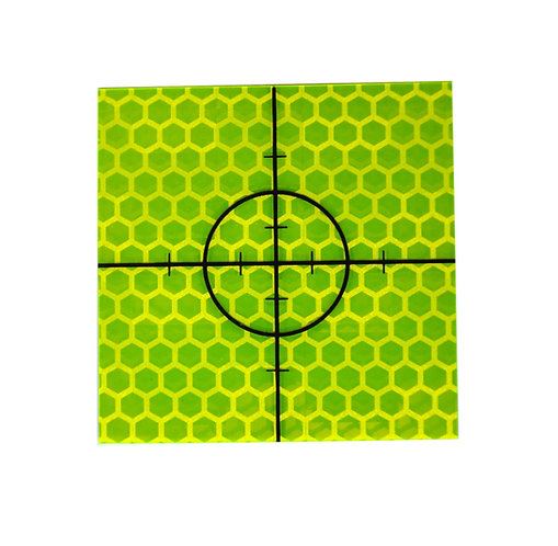 Yellow Retro Targets - 50mm x 50mm (Pack of 50)