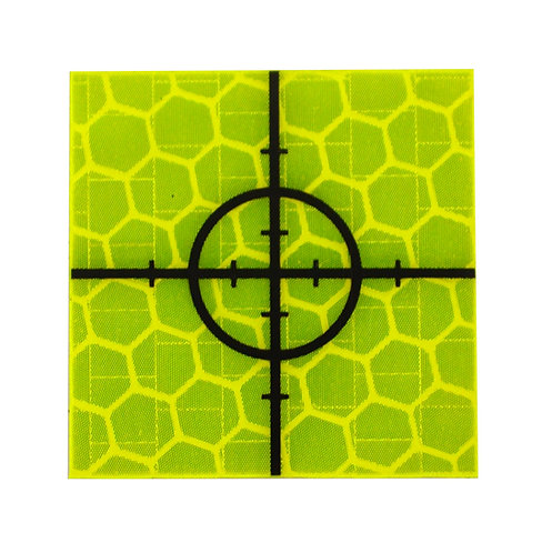 Yellow Retro Targets - 25mm x 25mm (Pack of 50)