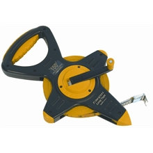 30m Fibreglass Measuring Tape on Open Frame