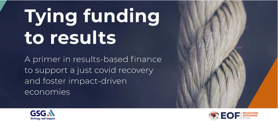 """New GSG and EOF results-based financing guide: """"Tying funding to results"""""""
