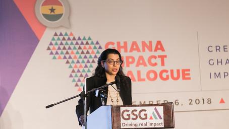 Amel Karboul speaks at the GSG Ghana Impact Dialogue