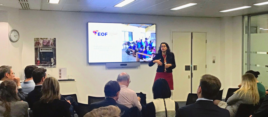 """EOF event, """"Building the plane while flying: creating the first outcomes fund for education"""""""