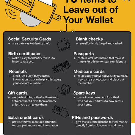10 Things to leave out of your wallet/purse