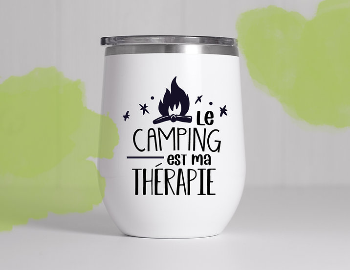 Décalque - Le camping est ma thérapie