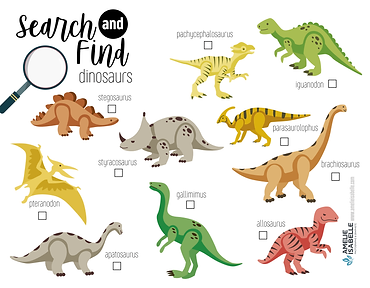 SEARCH AND FIND - DINOSAURS_Plan de trav