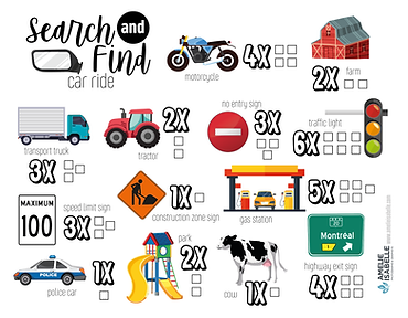 SEARCH AND FIND-CAR RIDE_Plan de travail