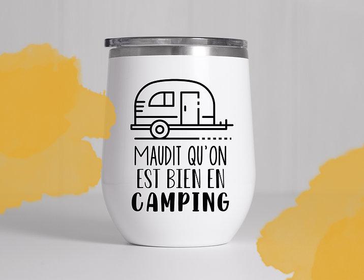 Décalque - Maudit qu'on est bien en camping