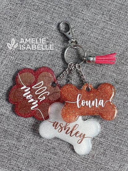Porte-clés / Dog mom et chien(s)