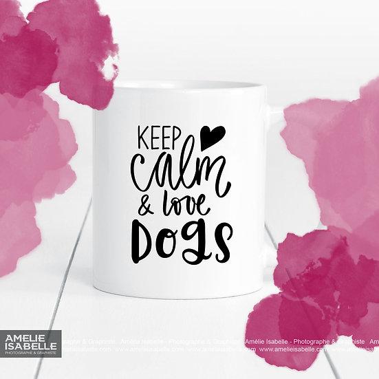 Décalque - Keep calm & love dogs/cats