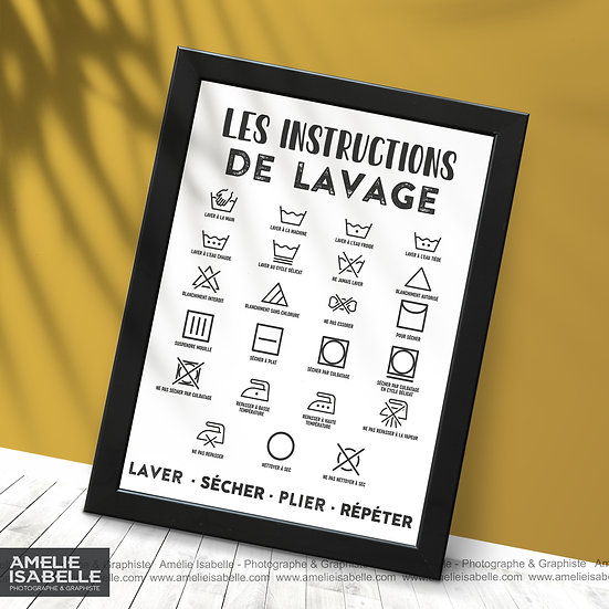 Les instructions de lavage
