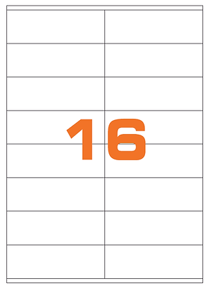 Etichette 105x36 mm in carta bianca su fogli A4 - Adesivo REMOVIBILE