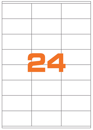 Etichette 70x36 mm in carta bianca su fogli A4 - Adesivo REMOVIBILE