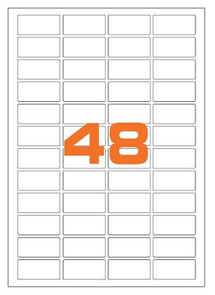 Etichette 45,7x21,2 mm in carta bianca su fogli A4 - Adesivo REMOVIBILE