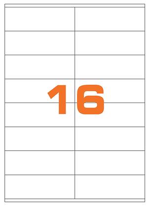 Etichette 105x36 mm in carta bianca su fogli A4
