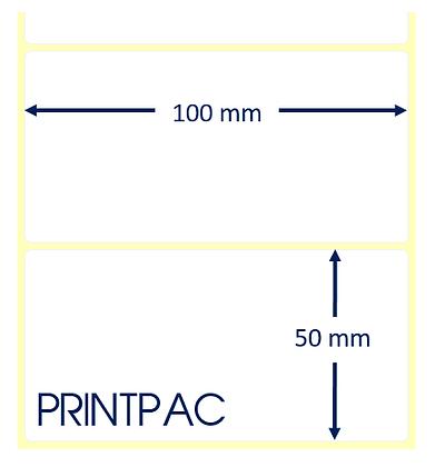 Etichette a trasferimento termico 100x50mm - Mandrino diametro 76mm