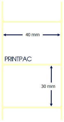Etichette a trasferimento termico 40x30mm - Mandrino diametro 76mm