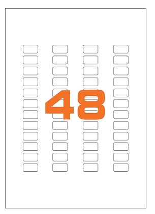 Etichette 22x12,7 mm in carta bianca su fogli A4