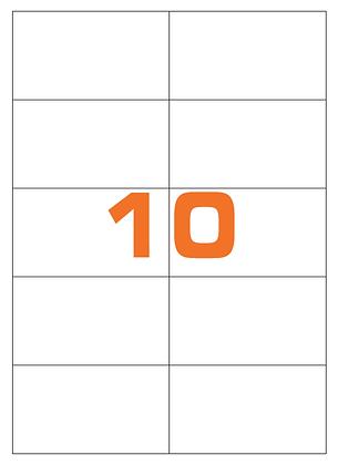 Etichette 105x59 mm in carta bianca su fogli A4
