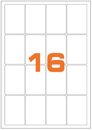 Etichette 47,7x70 mm in carta bianca su fogli A4