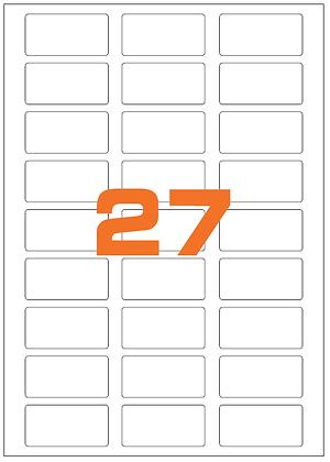 Etichette 56x28 mm in carta bianca su fogli A4
