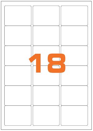 Etichette 63,5x46,6 mm in carta bianca su fogli A4