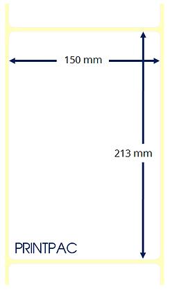 Etichette a trasferimento termico 150x213mm - Mandrino diametro 76mm