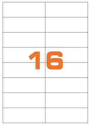 Etichette 105x37 mm in carta bianca su fogli A4