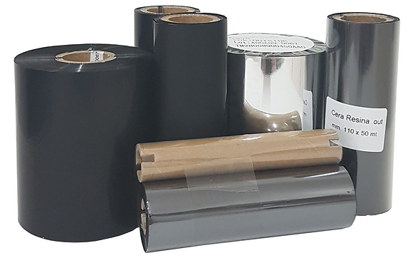 RIBBON compatibile 110x210 mt  |  cera (wax)  |  Esterno (ink-out)