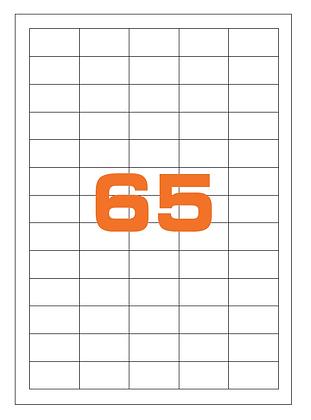 Etichette 38x21,2 mm in carta bianca su fogli A4