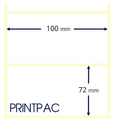 Etichette a trasferimento termico 100x72mm - Mandrino diametro 76mm