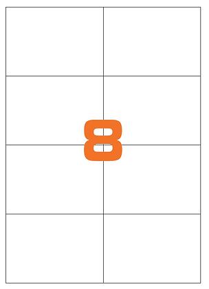 Etichette 105x74 mm in carta bianca su fogli A4 - Adesivo REMOVIBILE