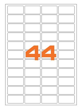 Etichette 47,5x25,5 mm in carta bianca su fogli A4