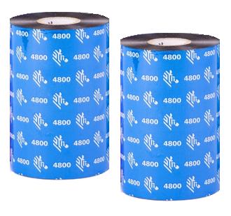 04800BK17445 - Ribbon ZEBRA 4800BK (resin)
