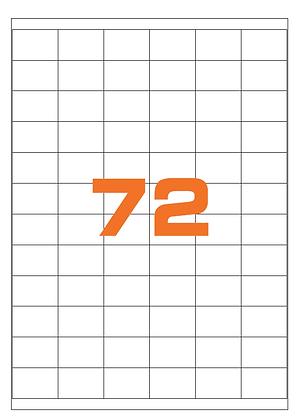 Etichette 35x23,5 mm in carta bianca su fogli A4